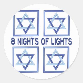 Sticker Rond 8 lumières de nuits