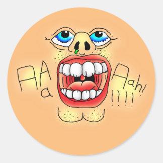 Sticker Rond AAAAAAHHH ! Visage criard