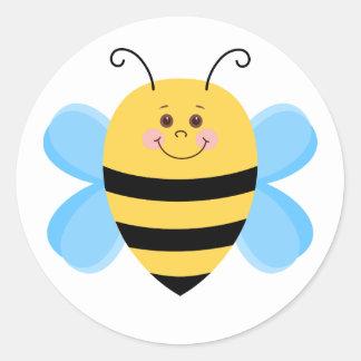 Sticker Rond Abeille mignonne de bébé
