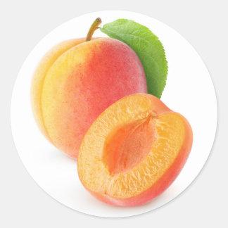 Sticker Rond Abricots frais
