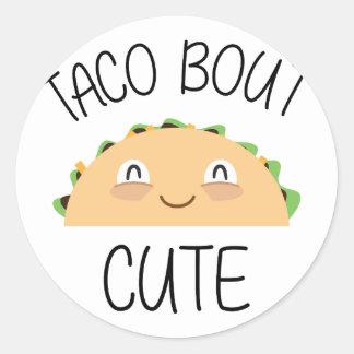 Sticker Rond Accès de taco mignon
