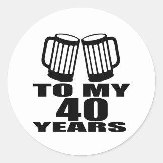 Sticker Rond Acclamations à mes 40 années de conceptions