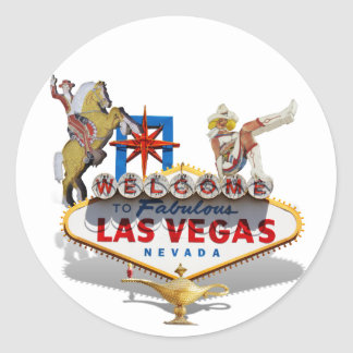 Sticker Rond Accueil vers Las Vegas