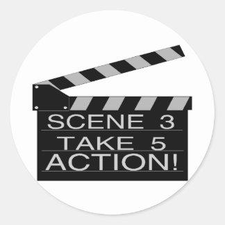 Sticker Rond Action