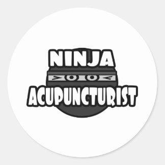 Sticker Rond Acupuncteur de Ninja