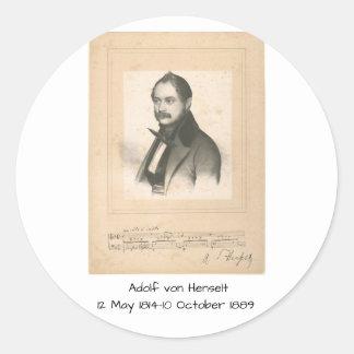 Sticker Rond Adolf von Henselt