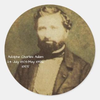 Sticker Rond Adolphe Charles Adam, 1855