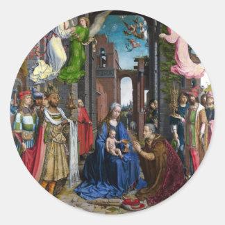 Sticker Rond Adoration de rois avant janvier Mabuse
