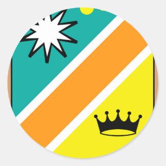 Sticker Rond Agrafe-art royal d'illustration de vecteur de