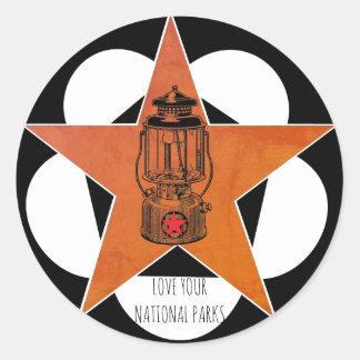 Sticker Rond Aimez votre lanterne de cru de parcs nationaux