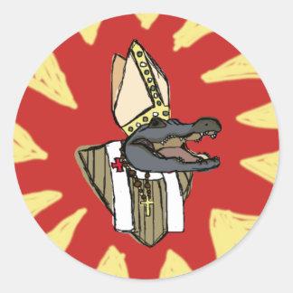Sticker Rond Al G. pour le pape