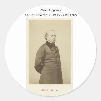 Sticker Rond Albert Grisar