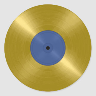 Sticker Rond Album record d'or