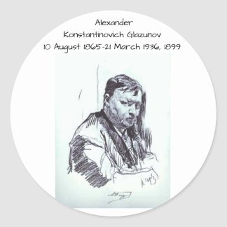Sticker Rond Alexandre Konstantinovich Glazunov 1899