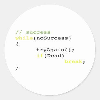 Sticker Rond Algorithme de succès