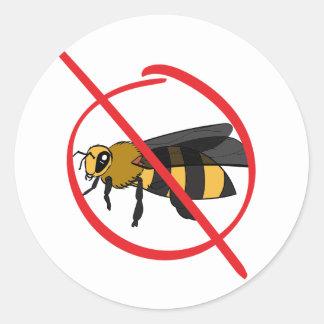 Sticker Rond Allergie d'abeille