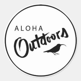 Sticker Rond aloha dehors