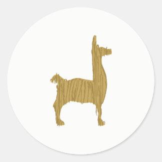 Sticker Rond Alpaga