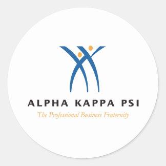 Sticker Rond Alpha nom et logo de livre par pouce carré de
