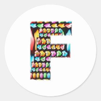 Sticker Rond Alphabets décoratifs - don de partie