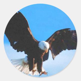 Sticker Rond Américain chauve Eagle
