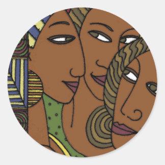Sticker Rond Amies de soeur de femmes d'Afro-américain