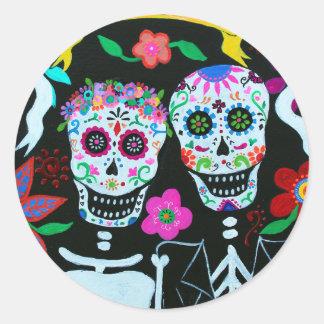 Sticker Rond AMO Dia de los Muertos Wedding de Te