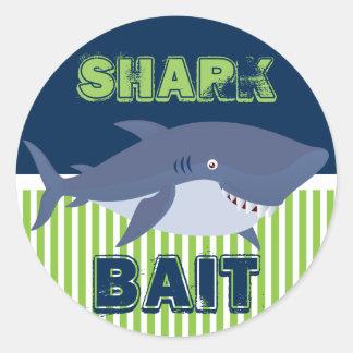 Sticker Rond Amorce de requin