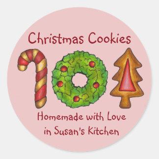 Sticker Rond Amour cuit au four fait maison de biscuits faits