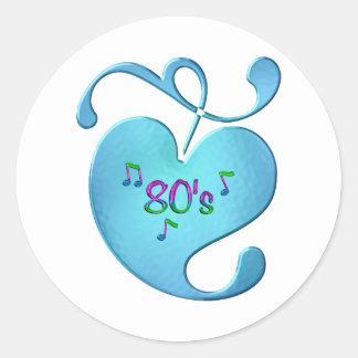Sticker Rond amour de la musique 80s