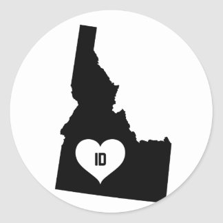 Sticker Rond Amour de l'Idaho