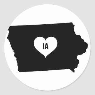 Sticker Rond Amour de l'Iowa