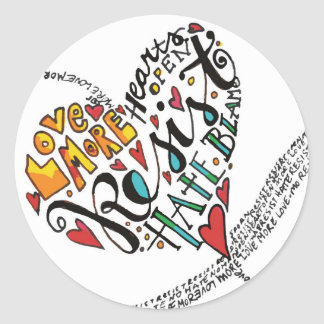 Sticker Rond Amour d'infini