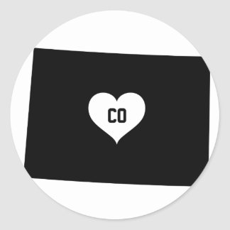Sticker Rond Amour du Colorado