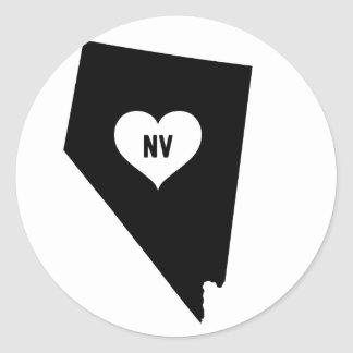 Sticker Rond Amour du Nevada