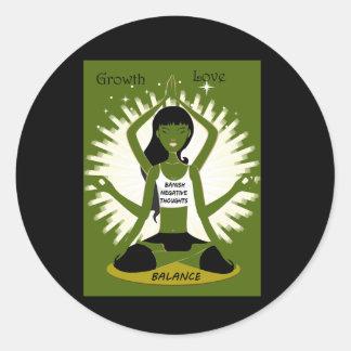 Sticker Rond Amour et équilibre de croissance
