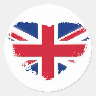Sticker Rond Amour Grande-Bretagne