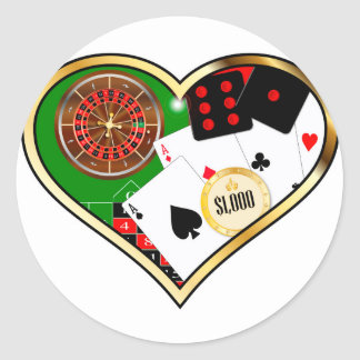 Sticker Rond Amour jouant