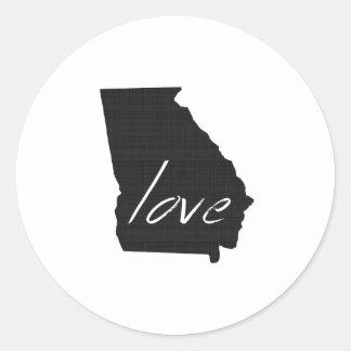 Sticker Rond Amour la Géorgie