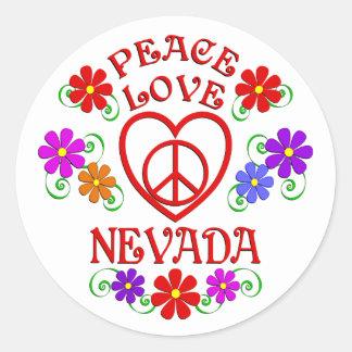 Sticker Rond Amour Nevada de paix