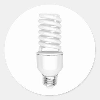 Sticker Rond Ampoule fluorescente