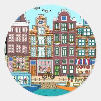 Sticker Rond Amsterdam