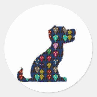 Sticker Rond AMUSEMENT de l'animal de compagnie NVN96
