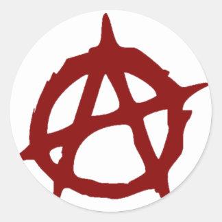 Sticker Rond Anarchie - UNE : Copie