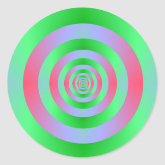 Sticker Rond Anneaux verts sur l'autocollant rose