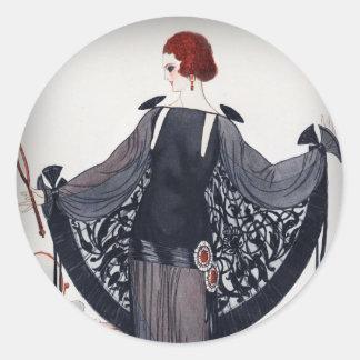 Sticker Rond Années '20 d'hurlement de diva de Fashionista