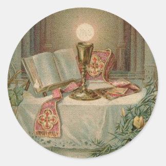 Sticker Rond Anniversaire de classification de prêtre