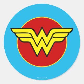 Sticker Rond Anniversaire du logo | de femme de merveille des