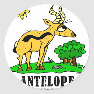 Sticker Rond Antilope par Lorenzo Traverso