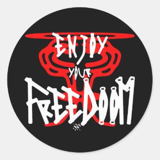 Sticker Rond Appréciez votre FreeDoom